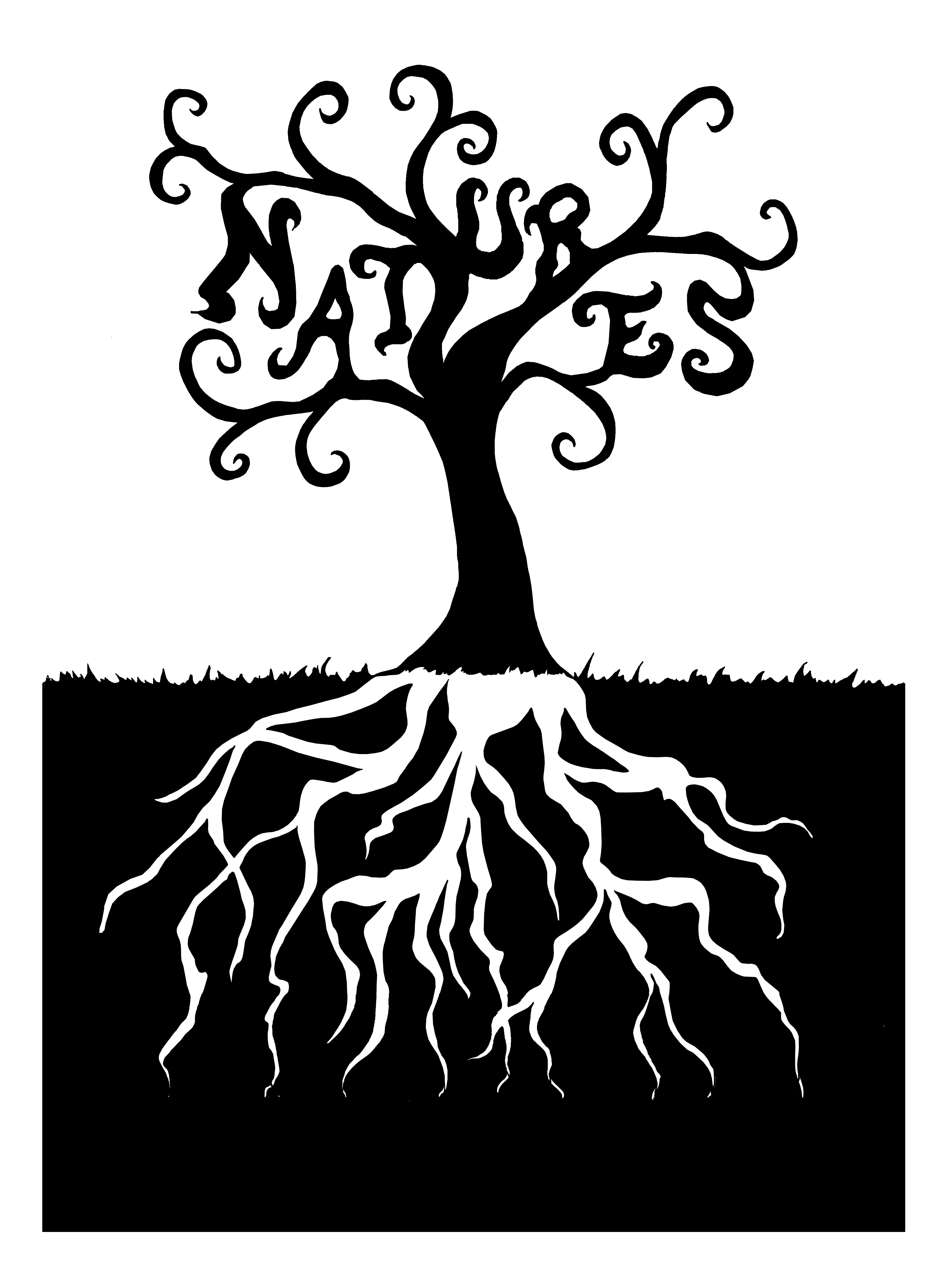 Clip Art Tree With Roots.
