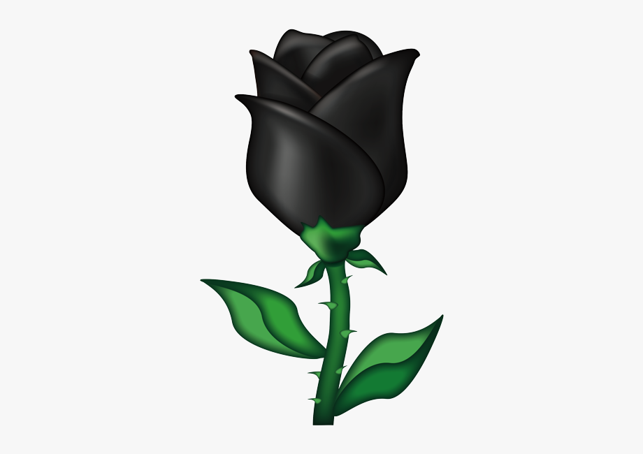 Black Black Rose Heart Emoji , Transparent Cartoon, Free.