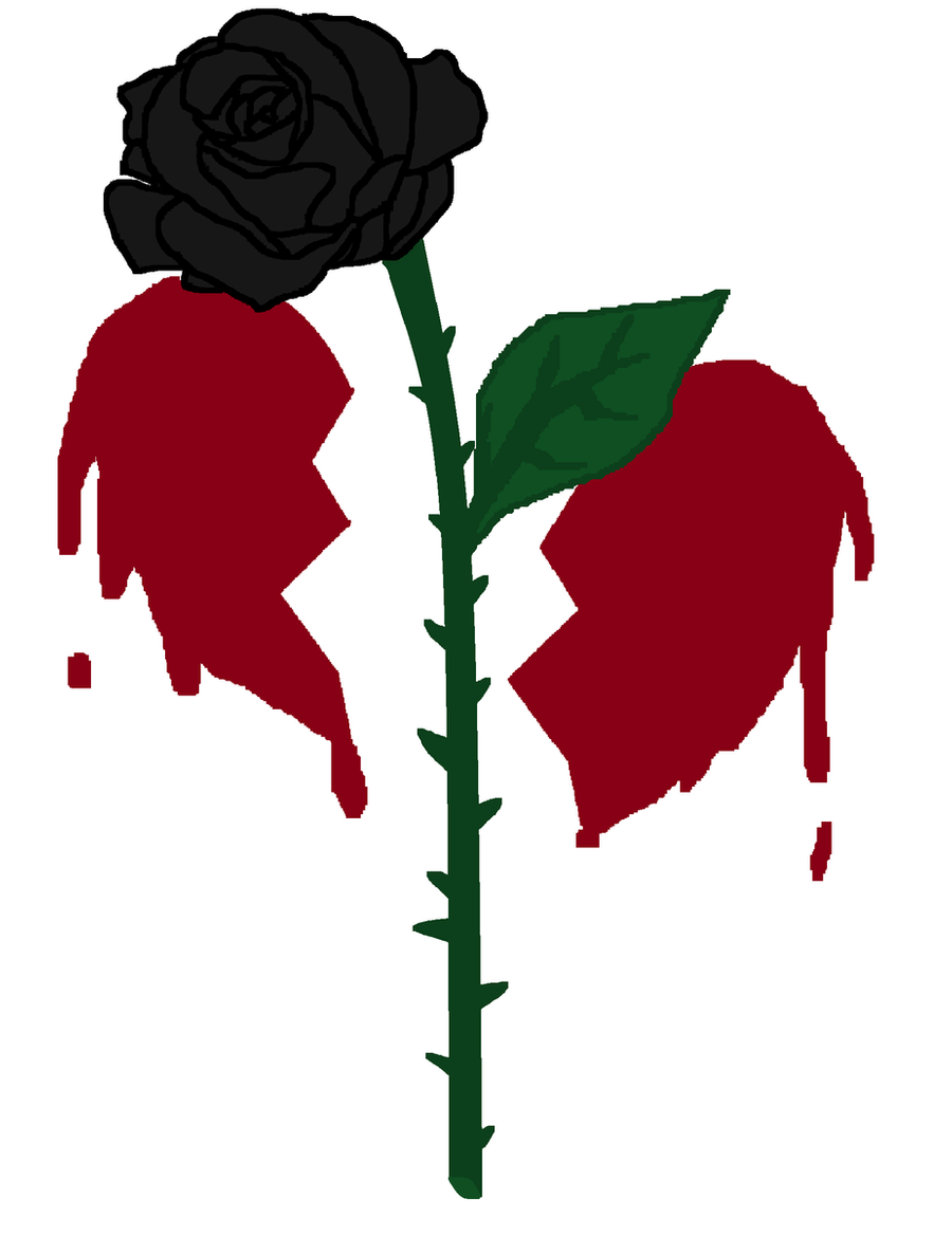 Dark Roses And Hearts Wallpaper.