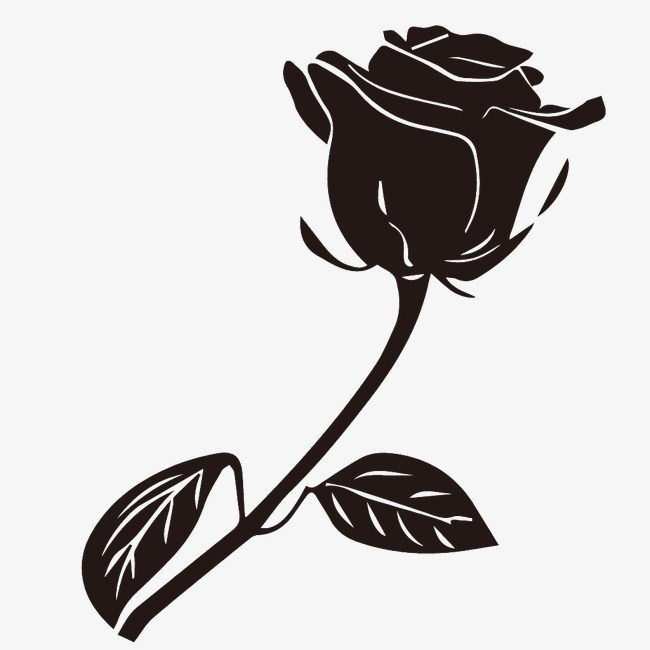Black rose clipart 7 » Clipart Portal.