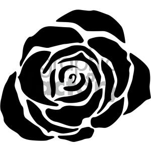 black rose svg cut file clipart. Royalty.
