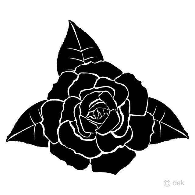 Black Rose Silhouette Clipart Free Picture|Illustoon.