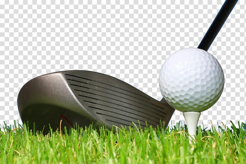 Black golf club and ball illustration, Golf ball Golf club.
