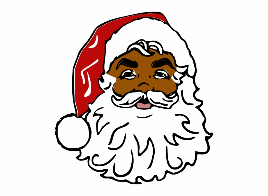 Santa Black Clip Art.