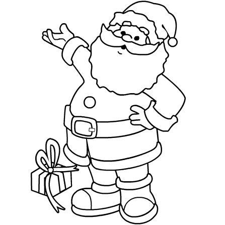 Santa claus clipart black and white.