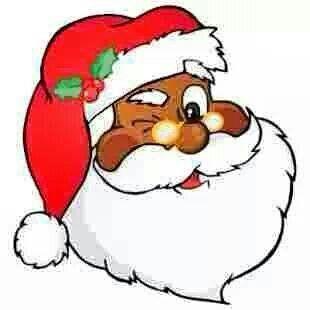 Black Santa claus.