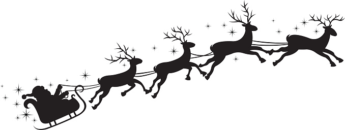 Free Santa Sleigh Clipart Black And White, Download Free.
