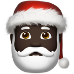 Santa Claus: Dark Skin Tone Emoji (U+1F385, U+1F3FF).