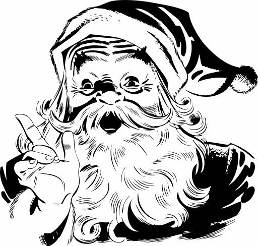 Black Santa Claus Face Png Black And White & Free Black Santa Claus.