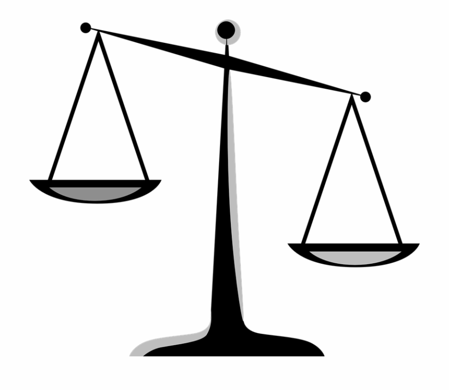 Free Scales Of Justice Black And White, Download Free Clip.