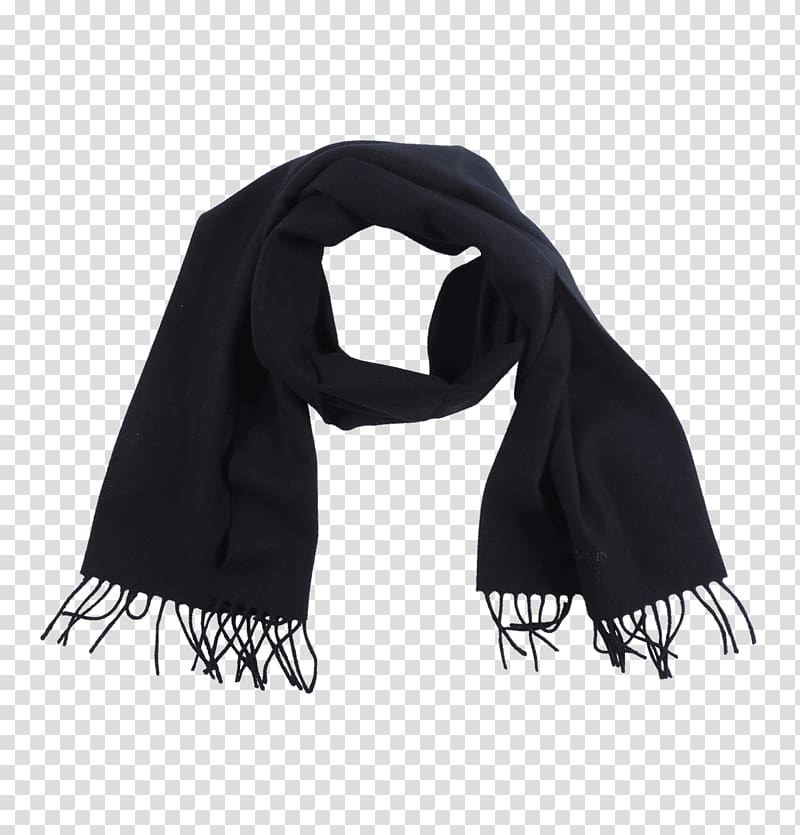Black M, black scarf transparent background PNG clipart.