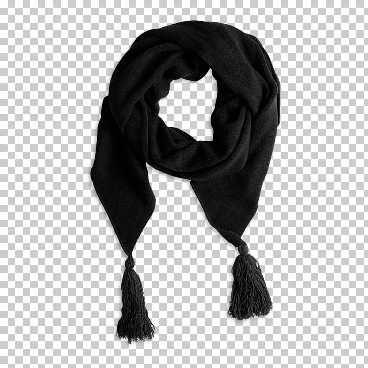 Scarf Neck, black scarf PNG clipart.