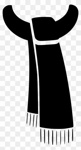 Free PNG Scarf Black And White Clip Art Download.