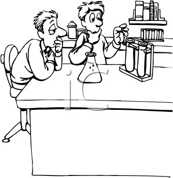 Science Experiment Clipart Black And White.