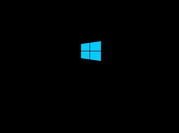Windows 10 stuck at Windows logo.