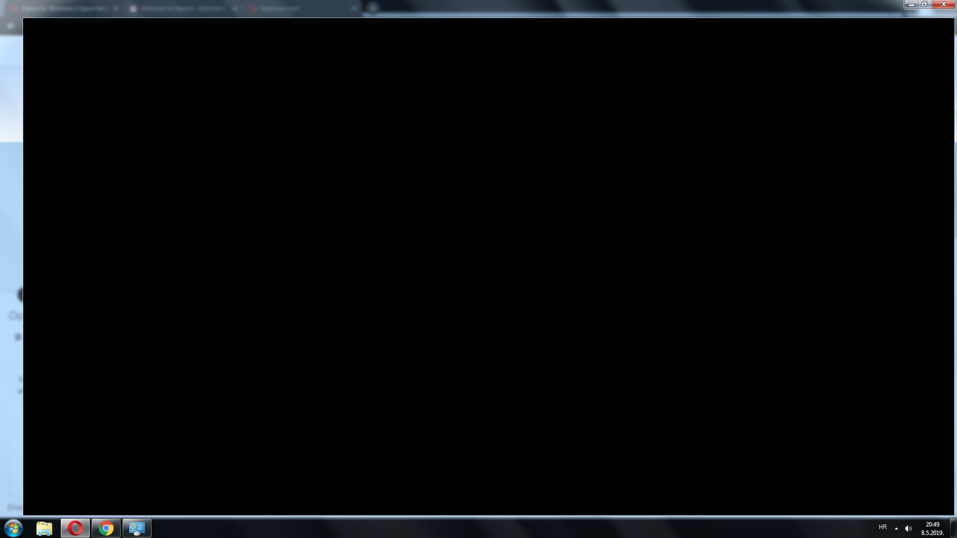 Solved]Black screen instead of browser after update.