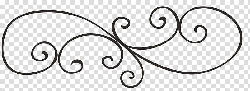 Freebie Decorative Elements, black scroll border transparent.