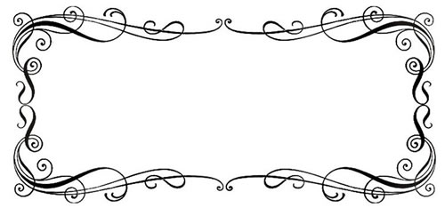 Black Scroll Frame Clip Art.