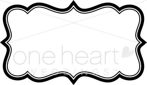 black scroll frame clipart #9