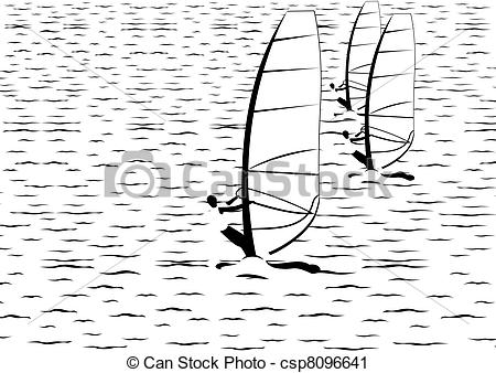 Clipart of At sea.