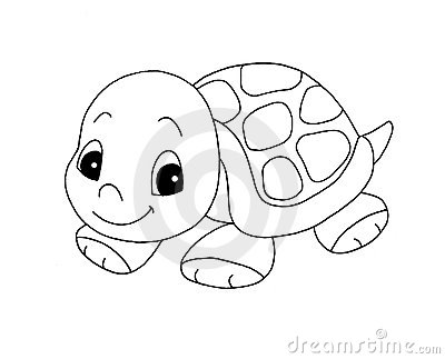 cute little girl turtle clip art.