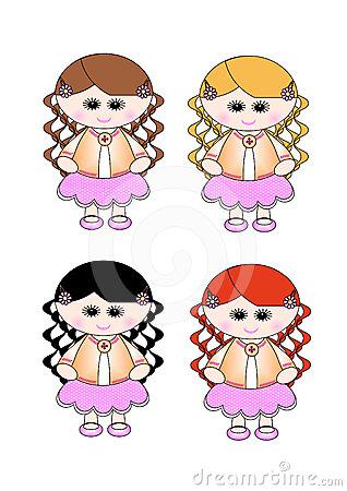 Cute Little Girl Pink Skirt.