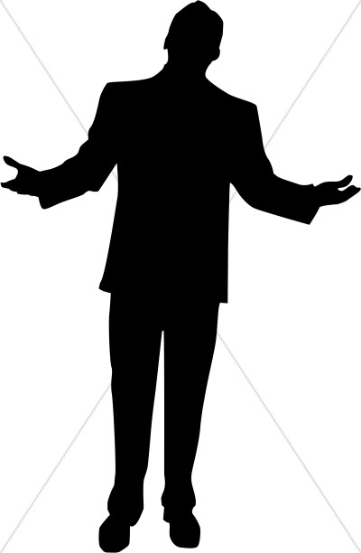 Clipart black man shadow.