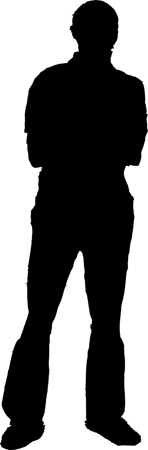Clipart black man shadow.