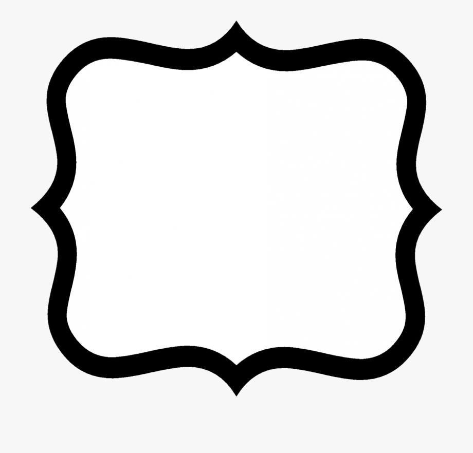 Fancy Label Shape Clip Art.