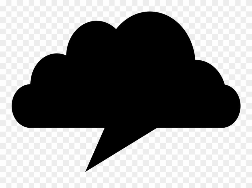 Cloud Black Shape Like A Chat Speech Bubble Comments Clipart.