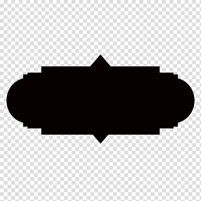 Free Tag Shape Templates, black transparent background PNG.