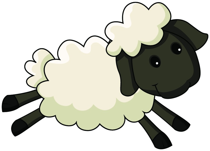 Black sheep clip art.