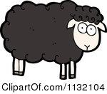 Cartoon of a Black Sheep.