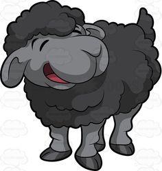 Css black sheep clipart.