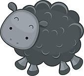 Black Sheep Clip Art.