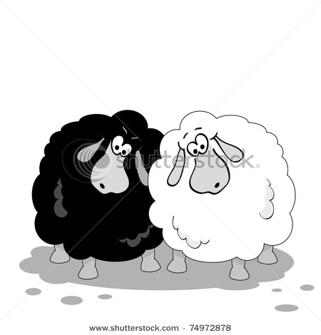 Black Sheep Of The Family Clipart.