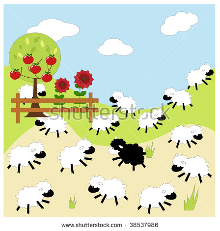 Black Sheep Of The Family Stock Images, Royalty.
