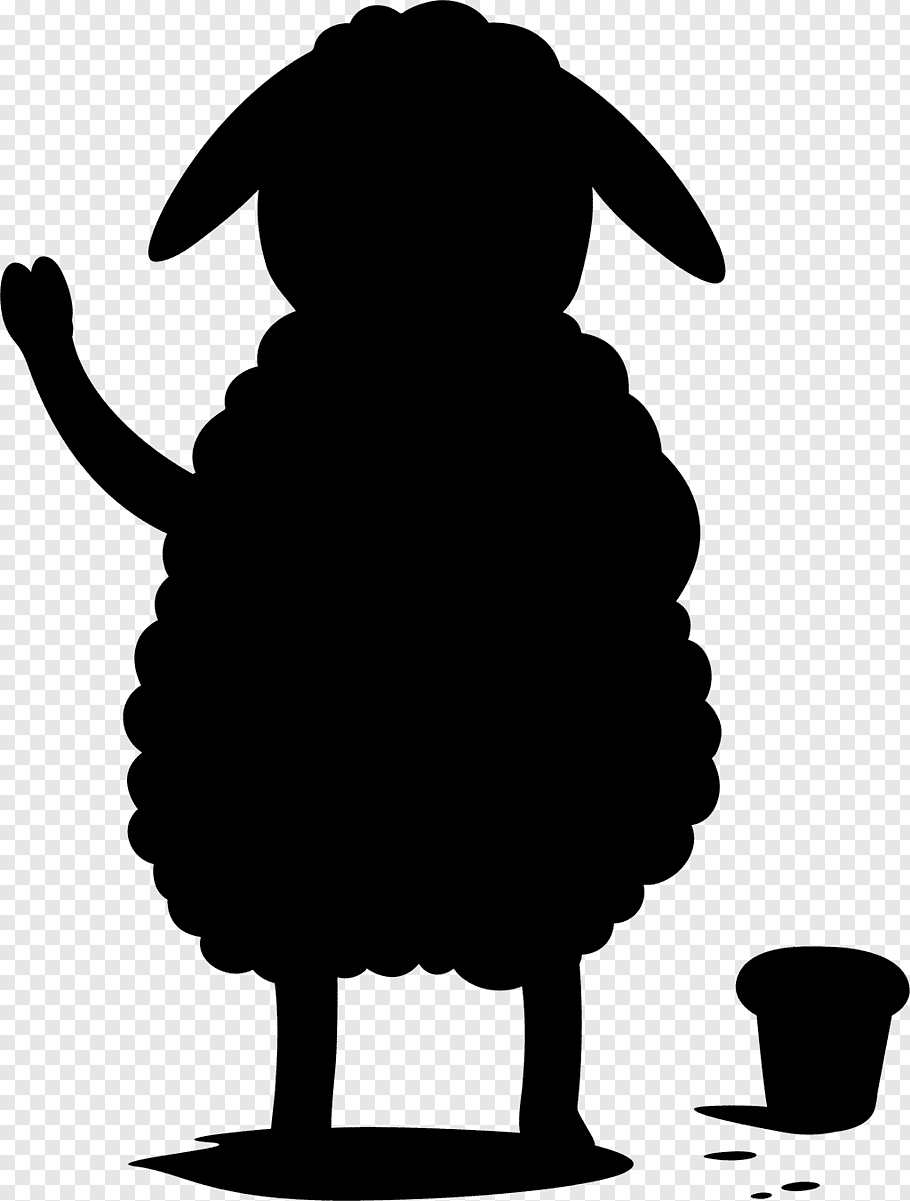 Sheep, Dog, Pet, Silhouette, Beak, Black M, Blackandwhite.