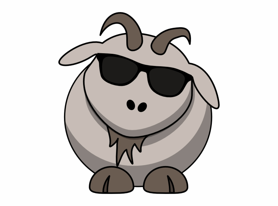 Goat With Sunglasses Clipart.