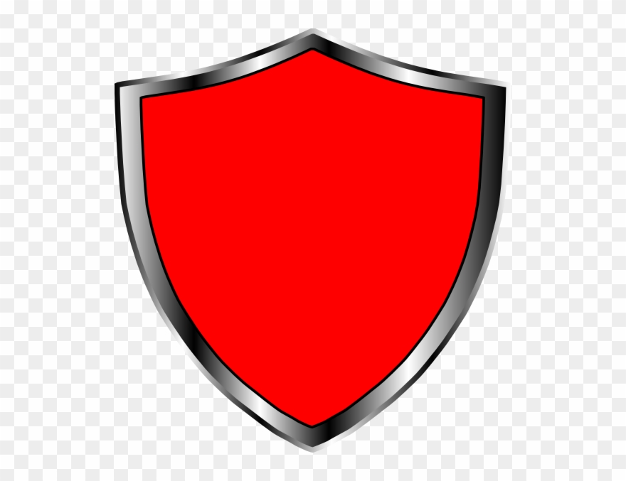 Red And Black Shield Clipart (#7519).