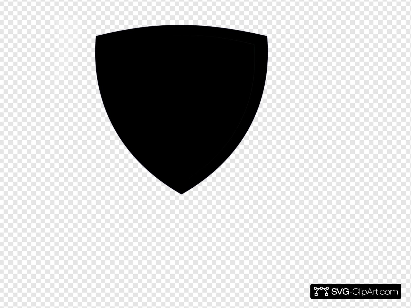 Simple Black Shield Clip art, Icon and SVG.