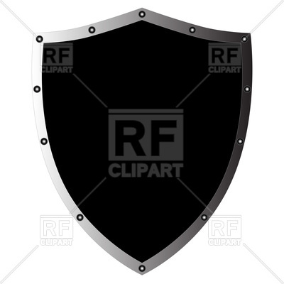 Black shield Vector Image.
