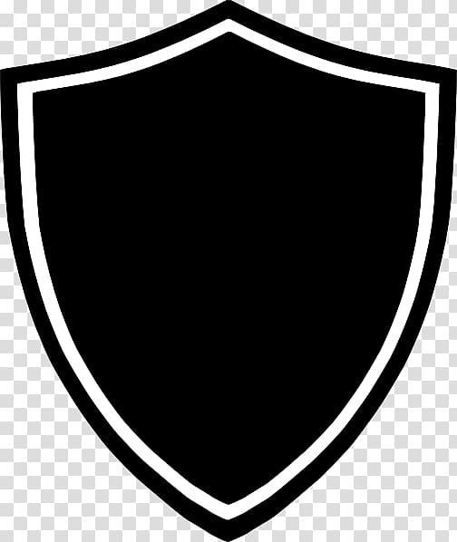 Logo Shield , black shield, white and black shield logo transparent.
