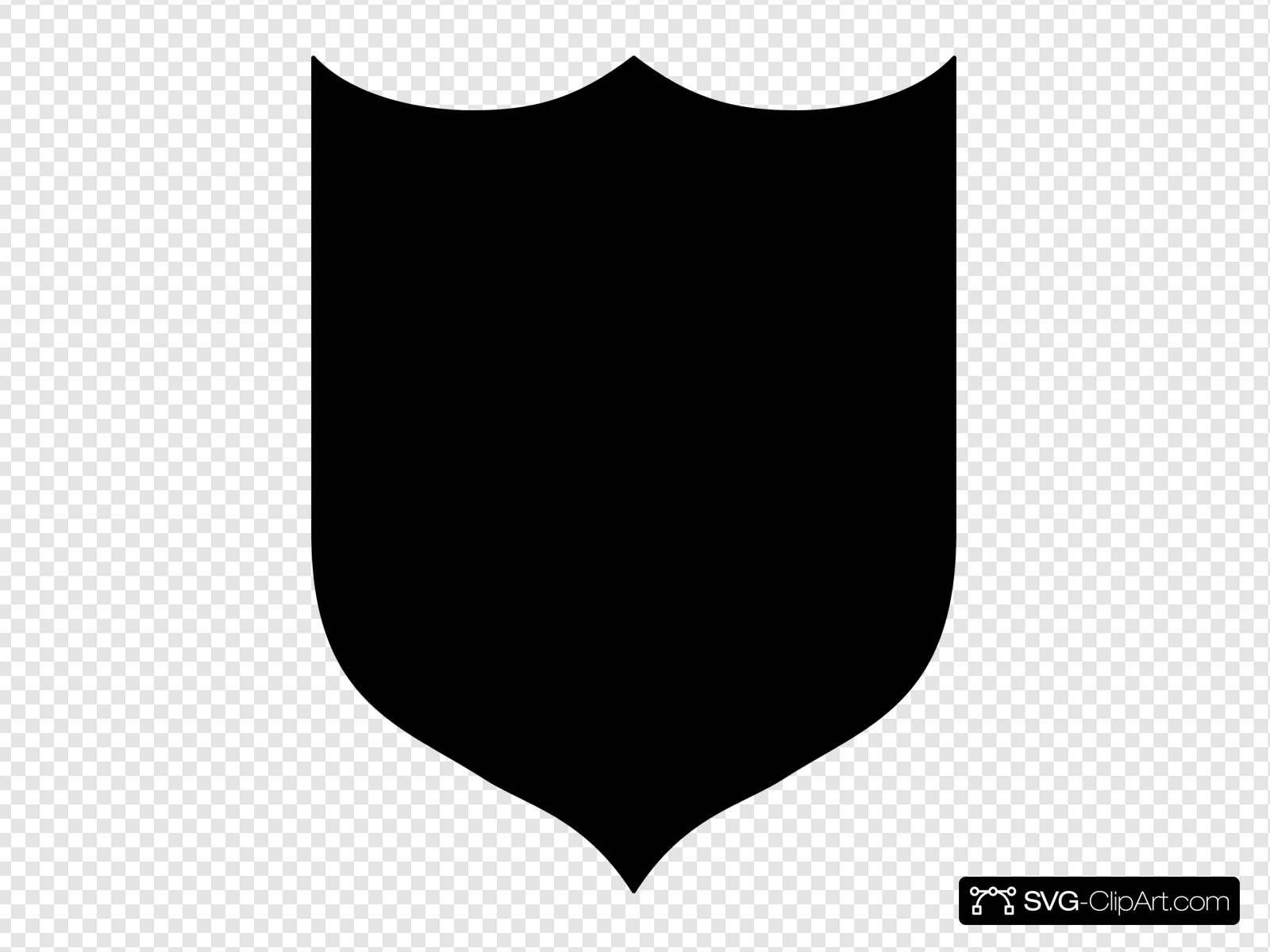 Black Shield Clip art, Icon and SVG.