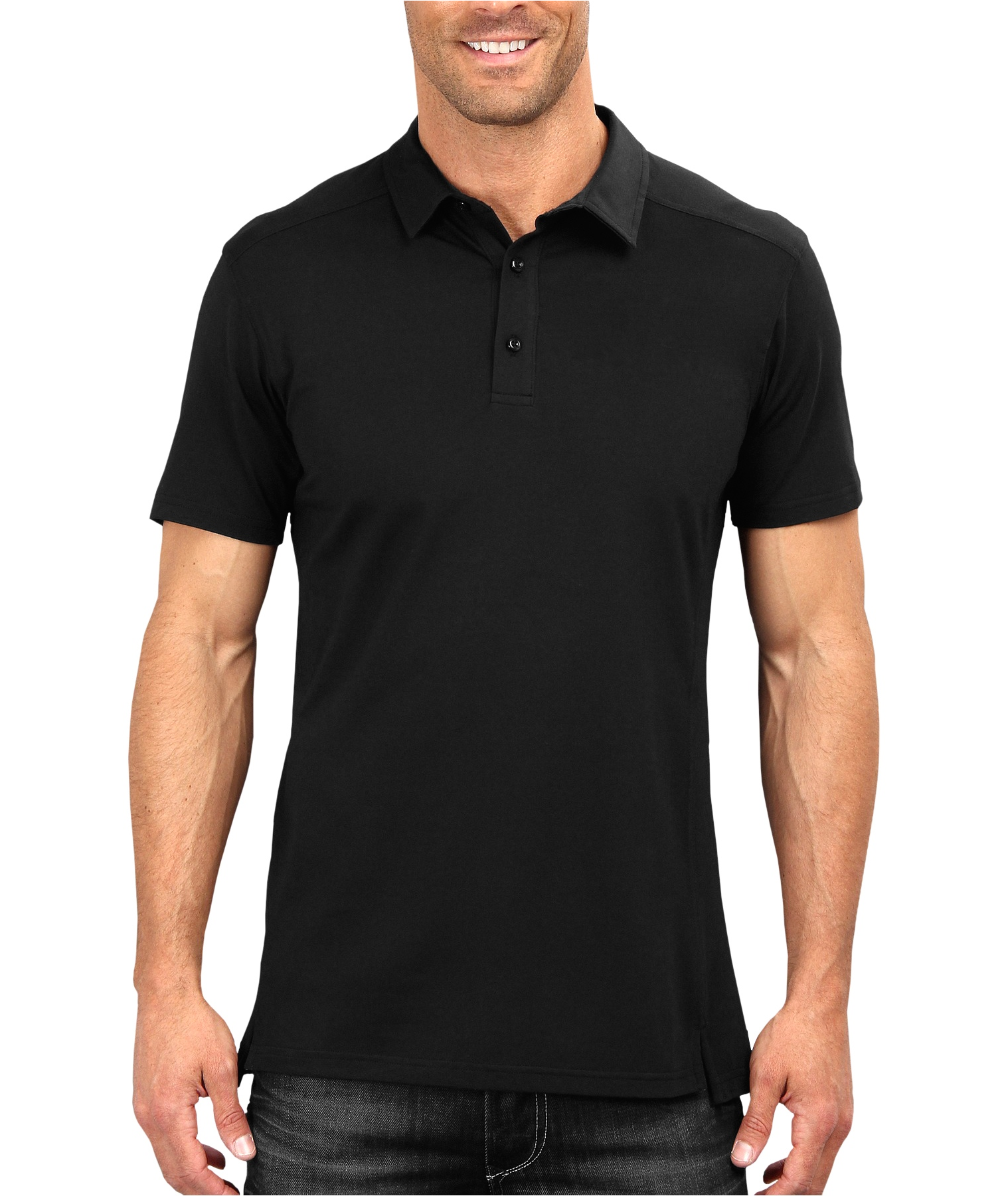 Download Black Polo Shirt Png.