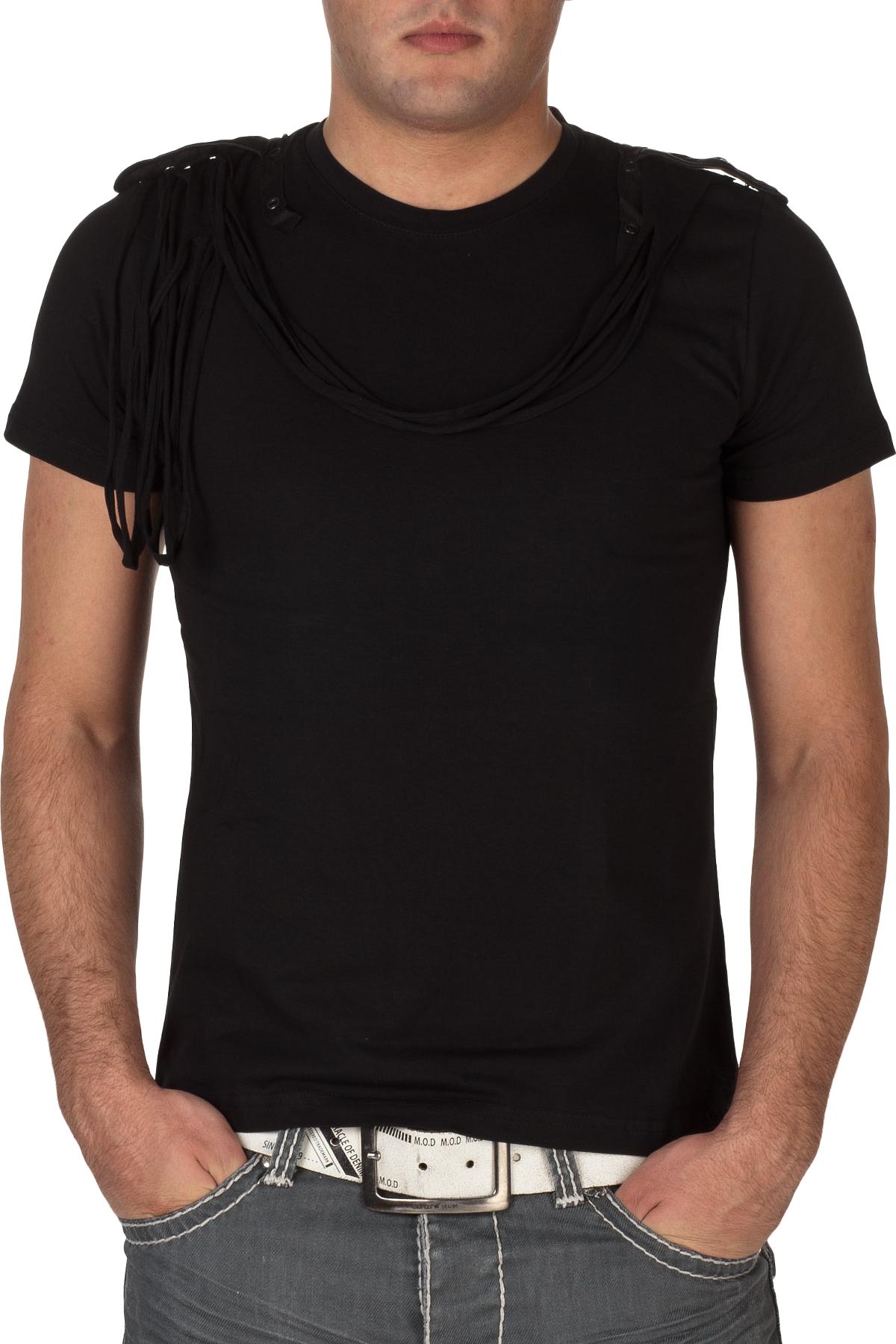 Black Men's Polo Shirt PNG Image.