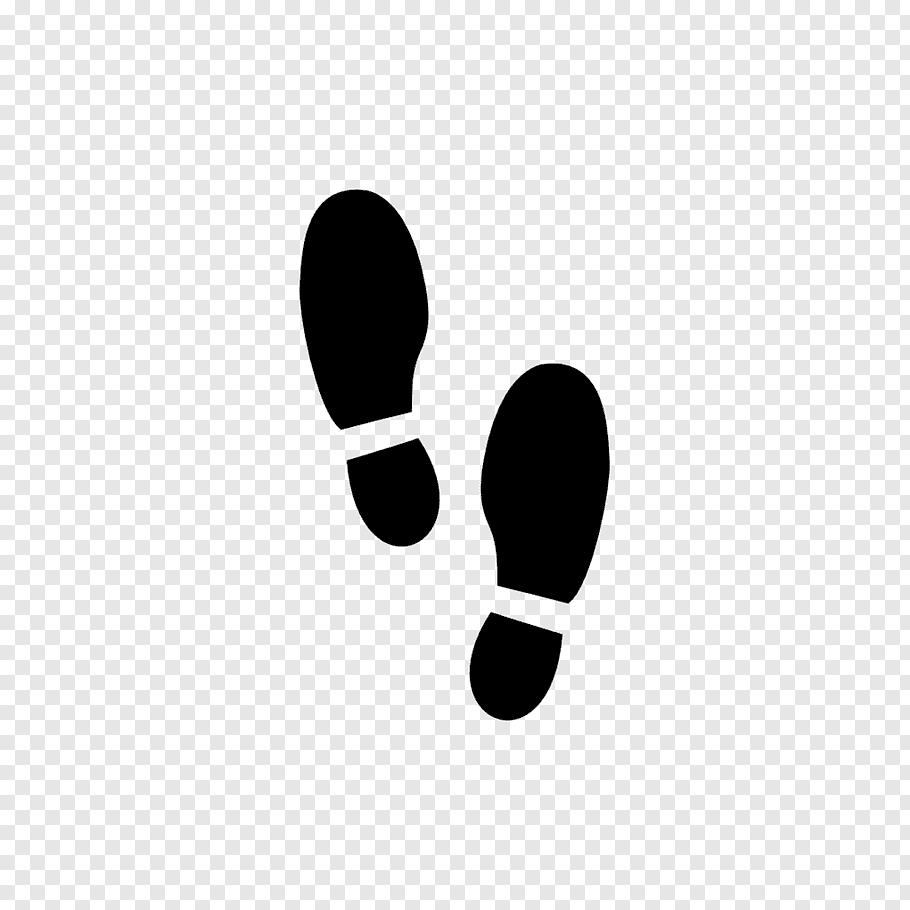Black footsteps illustration, Footprint, Shoe Prints free.