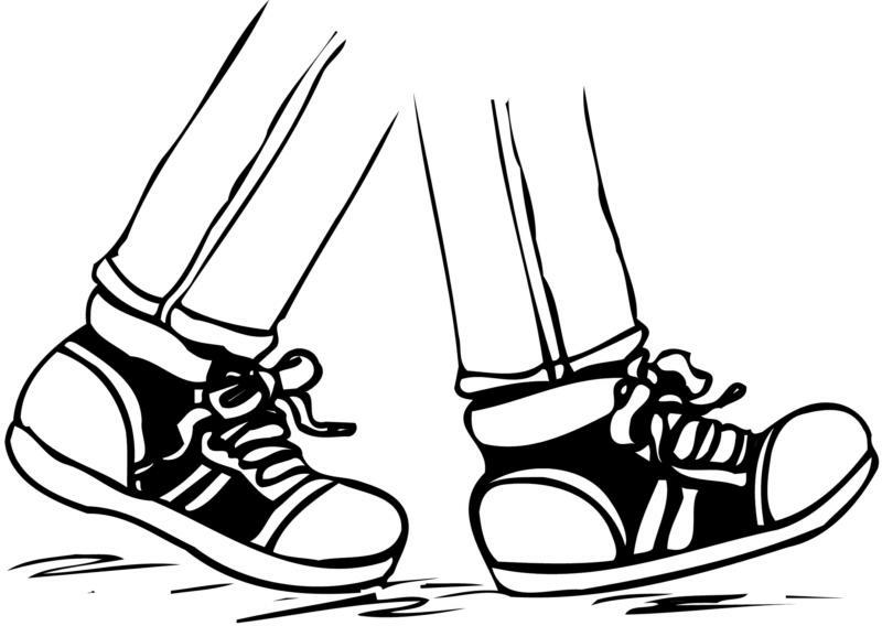Walking Feet Clipart Black And White.