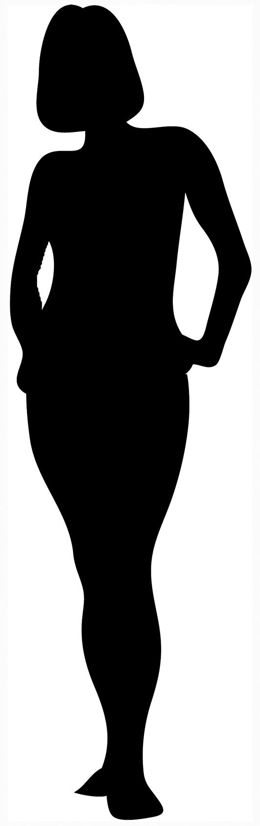 Black Woman Silhouette Clipart.