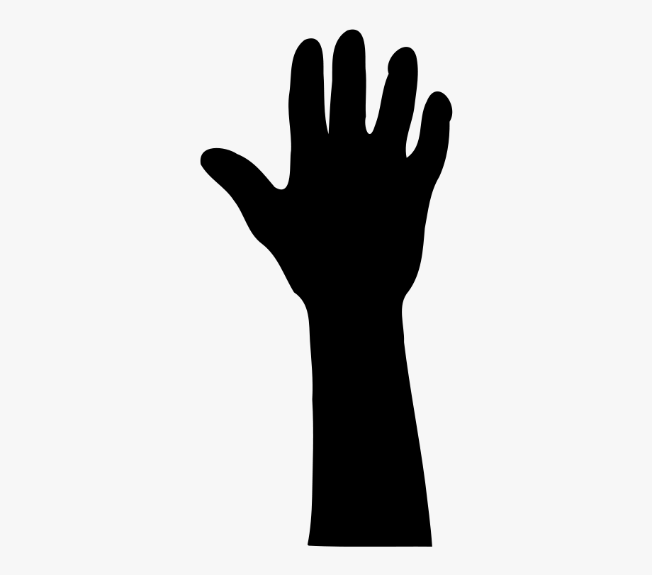 Hands Up Silhouette At.